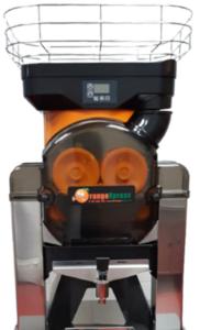 presse jus orange professionnel avec panier de chargement