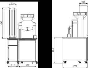 côte meuble pour machine à jus d'orange presse agrumes