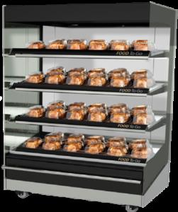 machines professionnels alimentation supermarché Présentoir Chaud