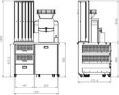côte meuble pour machine à presse agrumes jus d'orange presse agrumes